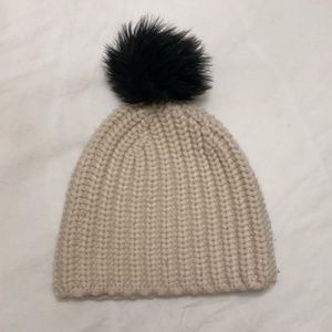 kate spade glitter pom pom winter hat toque nwot